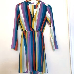 New! All in Favor New Multi Color Dress